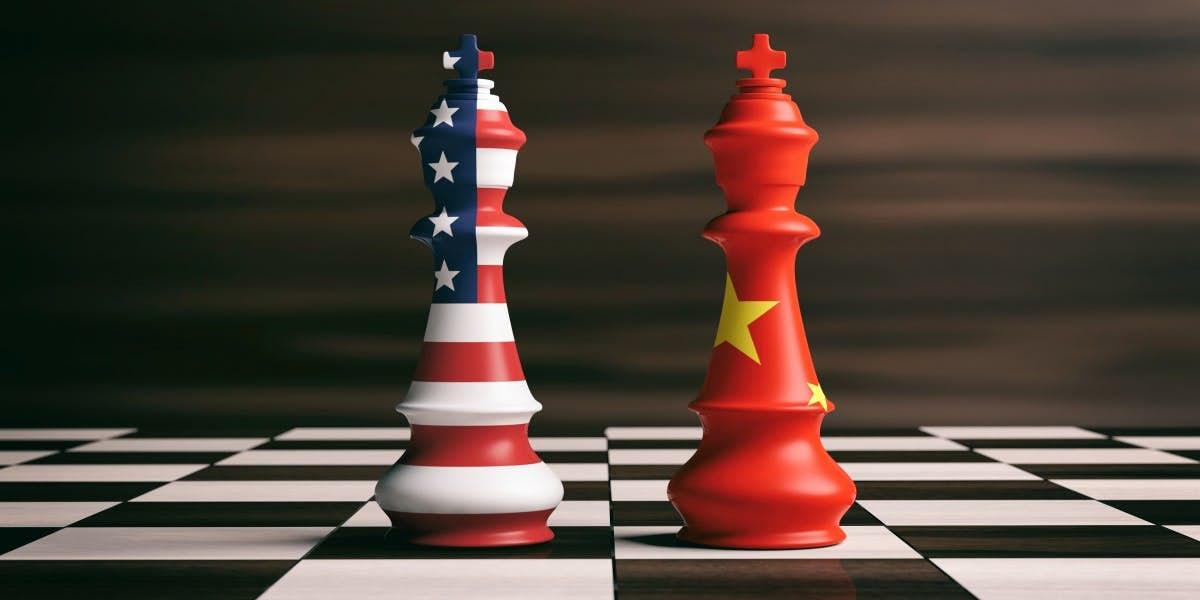 中美貿易戰的示意圖