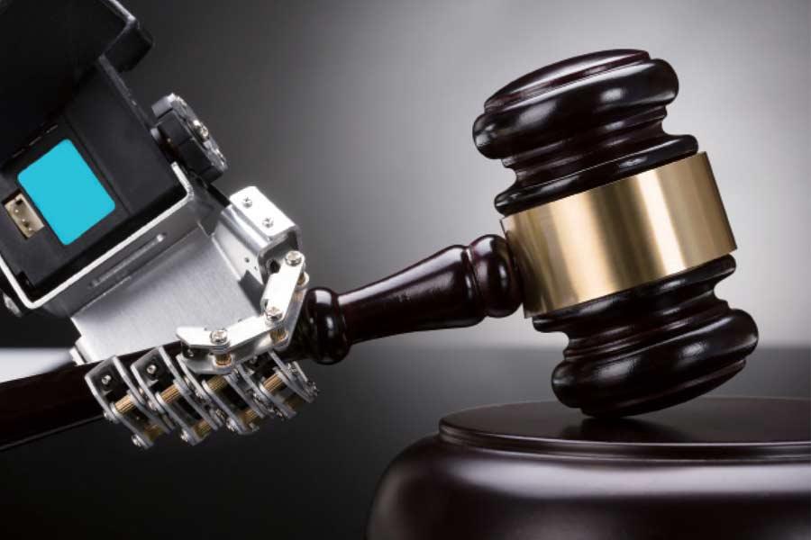 人工智慧律師示意圖
