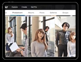 日本人工智慧AI機器人Erica與她的創造者石黑浩合照
