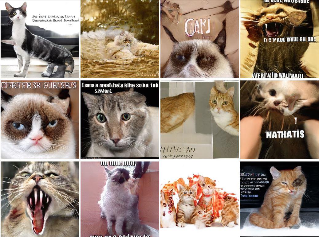 NVIDIA 去年推出的 AI 合成人臉效果好,但合成貓咪就悲劇