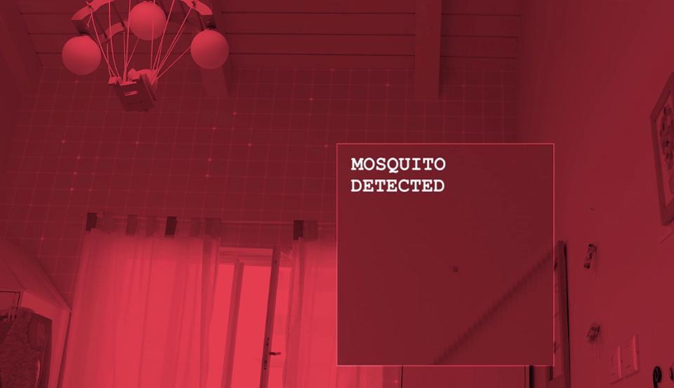 Bzigo在黑暗中偵測到蚊子