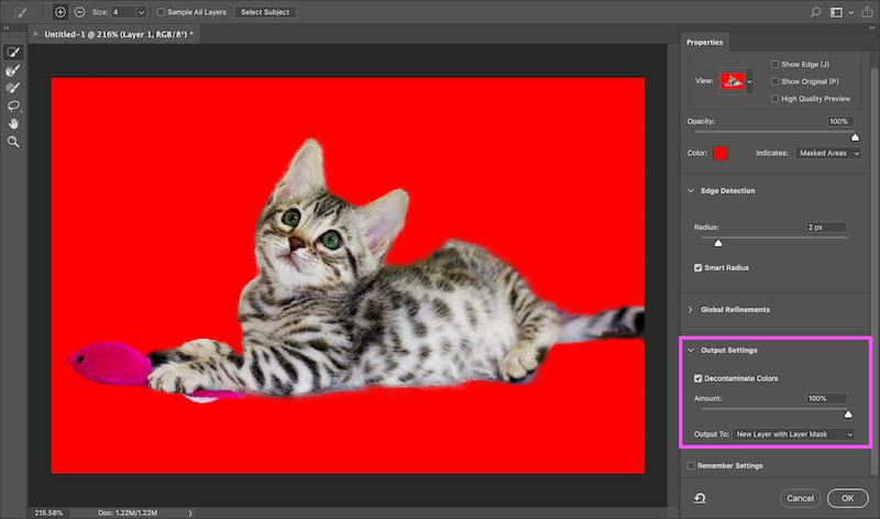 Photoshop去背教學-8-淨化顏色