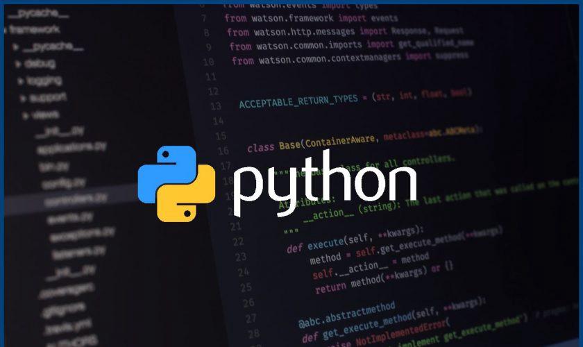 Python程式語言與Logo示意圖