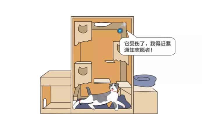 AI病貓識別系統運作示意圖