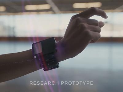 手腕 AR 感測器展示畫面