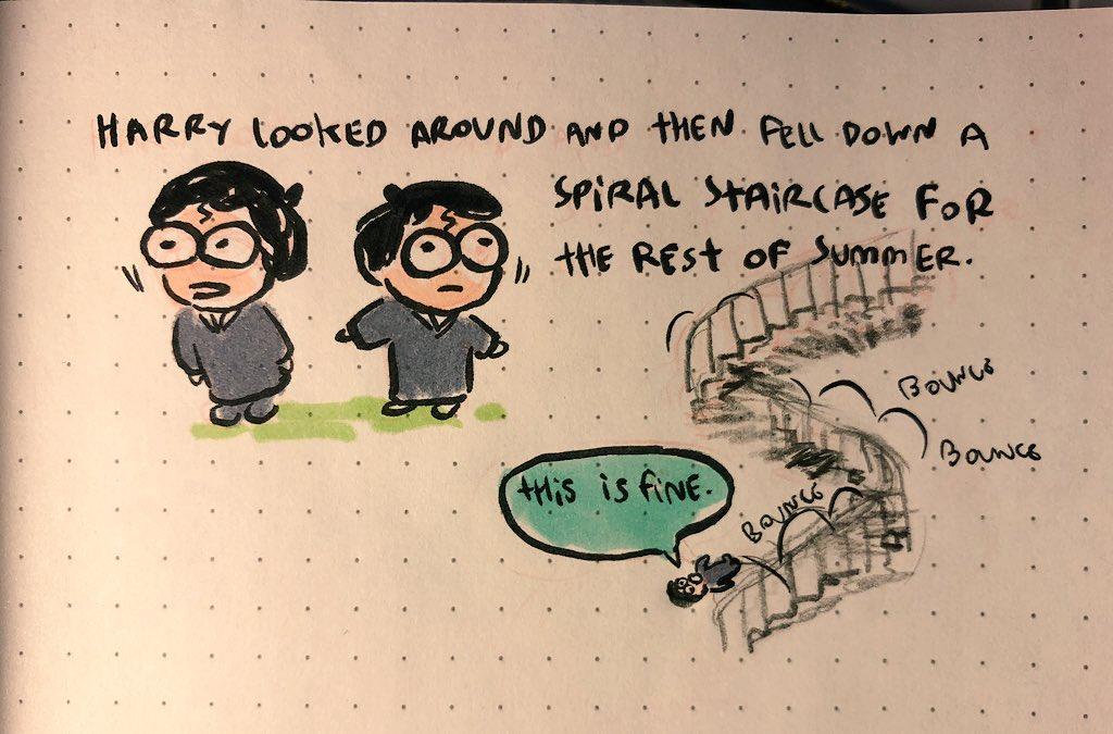 AI寫的哈利波特續集-哈利從樓梯上滑下來