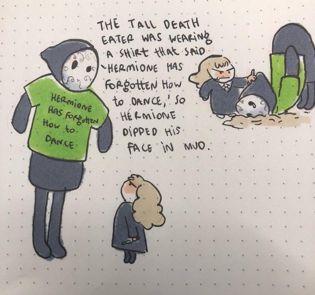 人工智慧編撰哈利波特續集的插畫-人工智慧編撰哈利波特續集的插畫-妙麗氣食死人