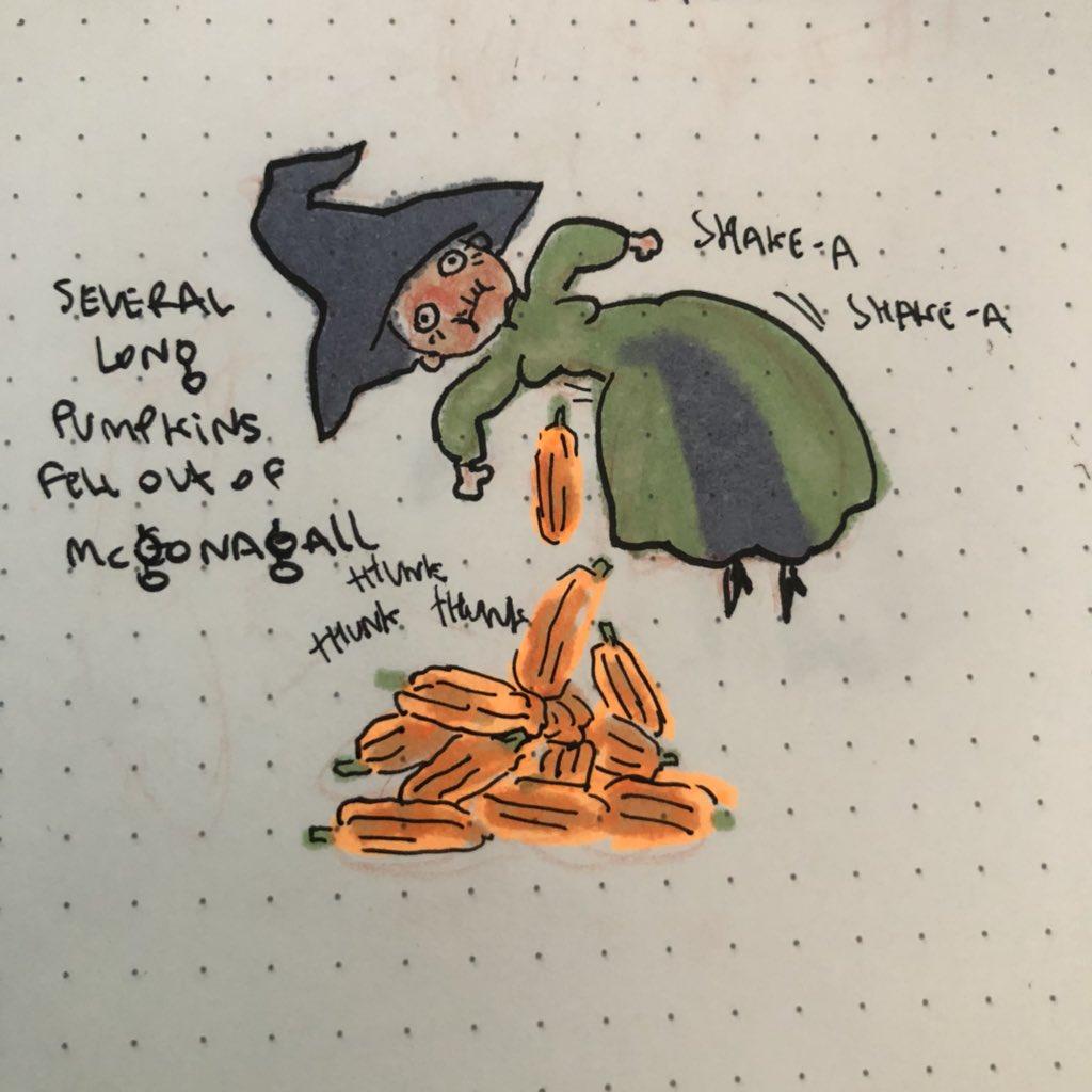 AI寫的哈利波特續集-南瓜麥教授插圖