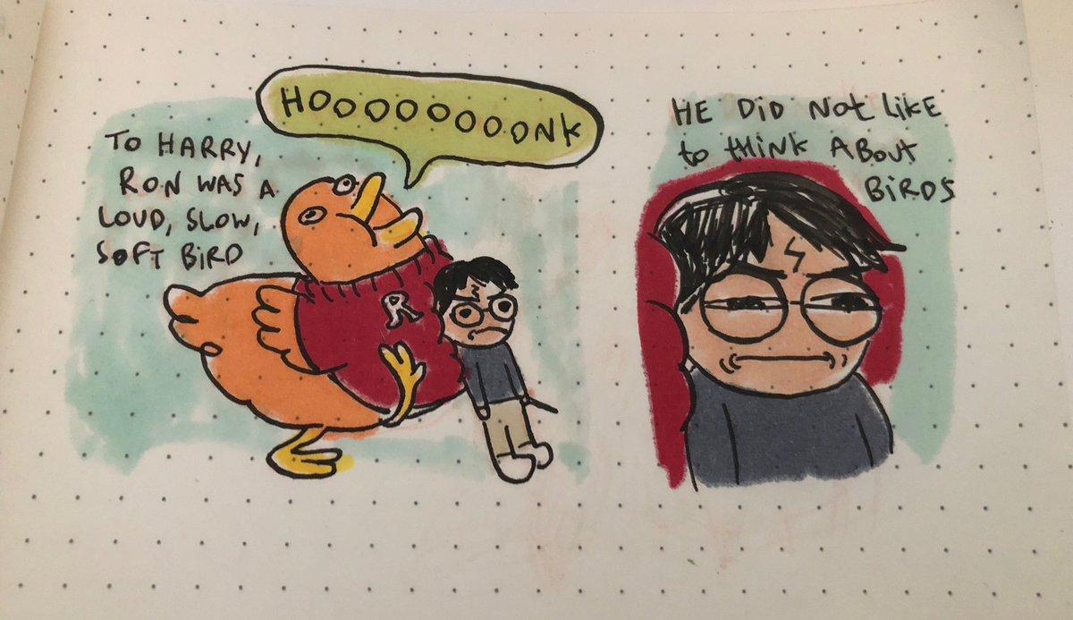 AI寫的哈利波特續集-榮恩變成鳥插圖