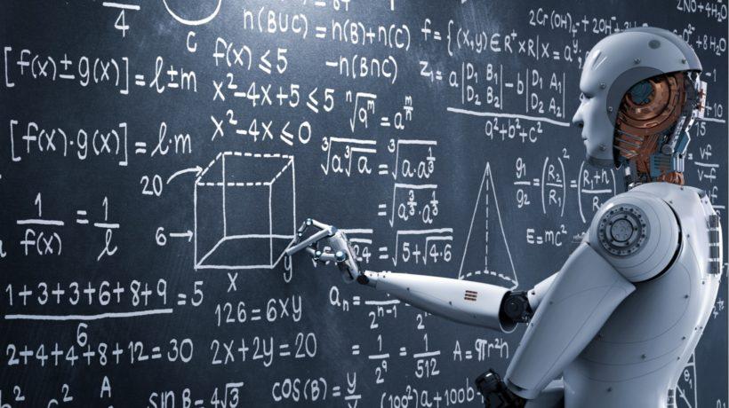 AI解數學題目的示意圖