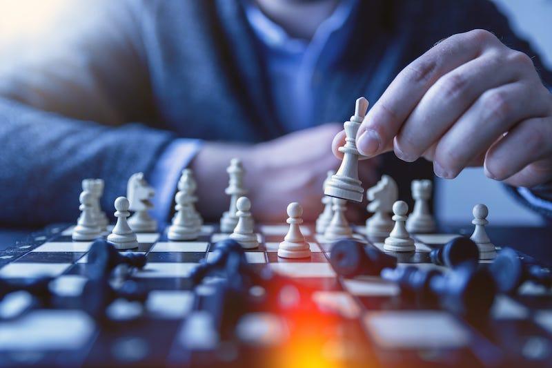 西洋棋下棋示意圖