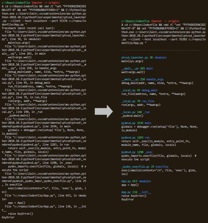 PrettyErrors美化了Python的錯誤信息