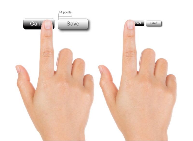UI/UX-按紐大小