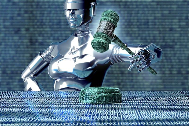 人工智慧當法官示意圖